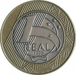 Moeda > 1real, 1998-1999 - Brasil  - reverse