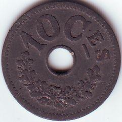 Mynt > 10centimes, 1915 - Luxemburg  - reverse