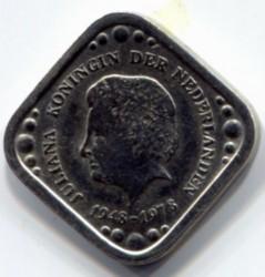 Moneda > 5centavos, 1978 - Países Bajos  (30th Anniversary - Reign of Queen Julianna) - obverse