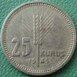 Moneta > 25kuruszy, 1944-1946 - Turcja  - reverse