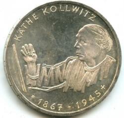 Moneda > 10mark, 1992 - Alemanya  (125è aniversari - Naixement de Kathe Kollwitz) - reverse