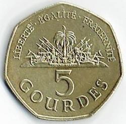Mynt > 5gourdes, 2013 - Haiti  - reverse