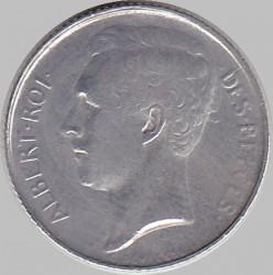 Moneda > 50centimes, 1910-1914 - Bèlgica  (Llegenda en francès - 'ALBERT ROI DES BELGES') - obverse