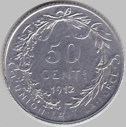 Moneda > 50centimes, 1910-1914 - Bèlgica  (Llegenda en francès - 'ALBERT ROI DES BELGES') - reverse