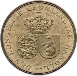 Монета > 1крона, 1957 - Гренландія  - obverse