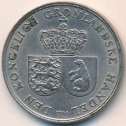 Монета > 1крона, 1960-1964 - Гренландія  - obverse