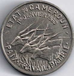 Coin > 50 francs, 1960 - Cameroon  - obverse