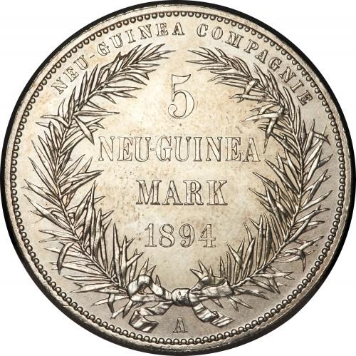 5 Mark 1894 Deutsch Neuguinea Münzen Wert Ucoinnet