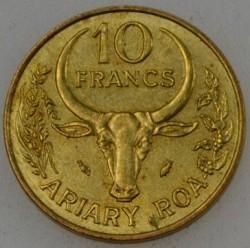 Moneta > 10frankų, 1987 - Madagaskaras  - reverse