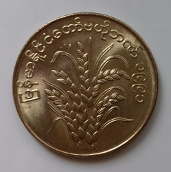 Coin > 50 pyas, 1991 - Myanmar  (F.A.O - Rice plant) - reverse