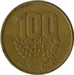 Moneta > 100kolonų, 1995 - Kosta Rika  - obverse