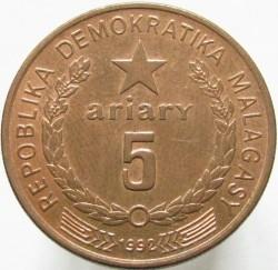 Кованица > 5ариариа, 1992 - Мадагаскар  - reverse