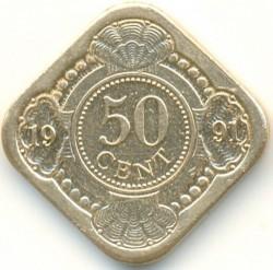 Νόμισμα > 50Σέντς, 1989-2016 - Ολλανδικές Αντίλλες  - reverse