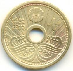 Moneta > 10senów, 1938-1940 - Japonia  - reverse