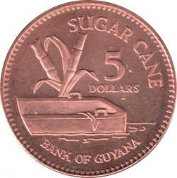 Монета > 5долларов, 1996-2018 - Гайана  - reverse