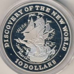 Монета > 10долларов, 1992 - Багамы  (Открытие Нового Света) - obverse