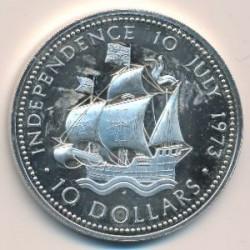 Монета > 10долларов, 1973 - Багамы  (Независимость, 10 июля 1973) - reverse