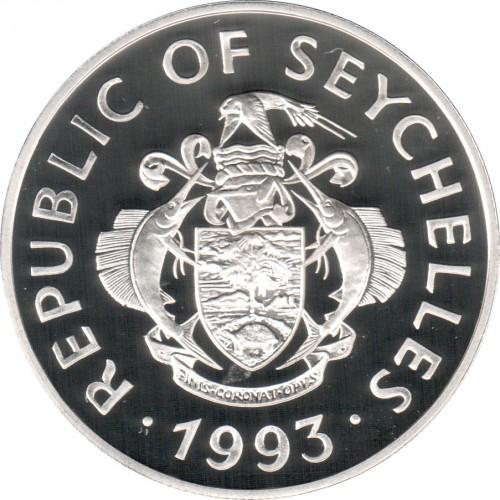 25 Rupien 1993 Coronation Of Queen Elizabeth Ii Seychellen