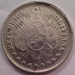 Mynt > 20centavos, 1885-1907 - Bolivia  - obverse