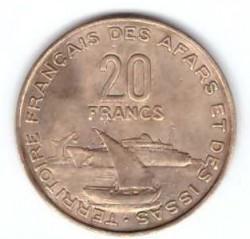 Монета > 20франков, 1968-1975 - Французские афар и исса  - reverse