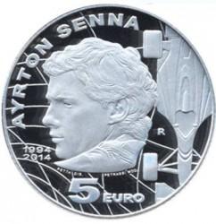 Moneta > 5euro, 2014 - San Marino  (20° Anniversario - Morte di Ayrton Senna) - reverse