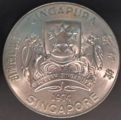 Moneta > 10dollari, 1974 - Singapore  (Falco) - obverse