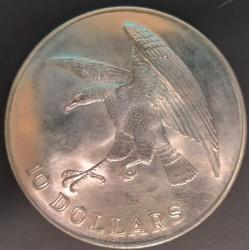 Moneta > 10dollari, 1974 - Singapore  (Falco) - reverse
