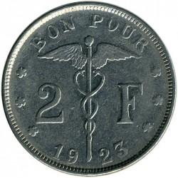 Munt > 2francs, 1923-1930 - Belgie  (Legend in French - 'BELGIQUE') - reverse