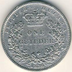 Кованица > 1guilder, 1836 - Британска Гвајана  - reverse