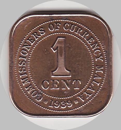 1 Cent 1939 1941 Malaya Münzen Wert Ucoinnet