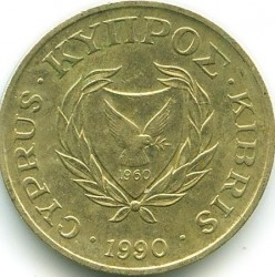 Coin > 2 cents, 1985-1990 - Cyprus  - obverse