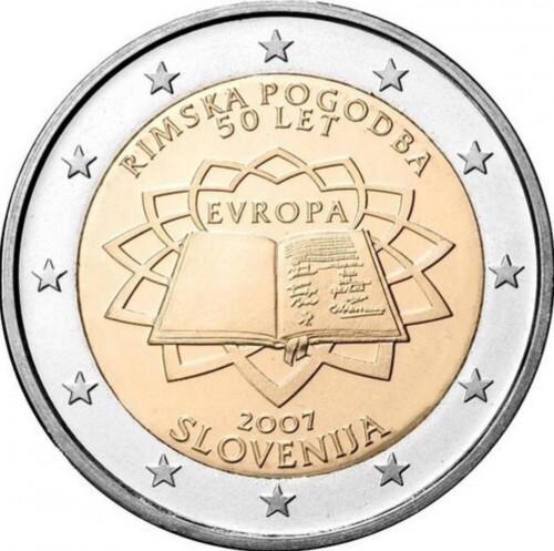 2 Euro 2007 Vertrag Von Rom Slowenien Münzen Wert Ucoinnet