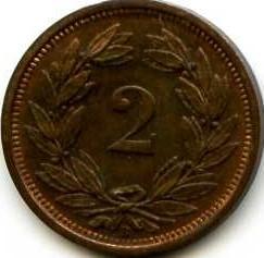 Moneda > 2céntimos, 1929 - Suiza  - reverse