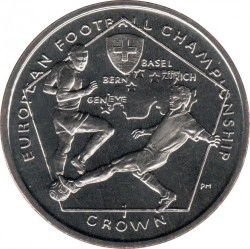Moneta > 1corona, 2008 - Isola di Man  (UEFA Euro 2008 /Soccer Players/) - reverse