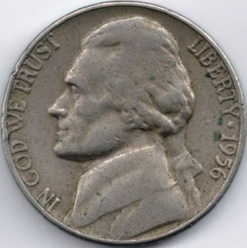 USA 5 Cents 1956 KM A192