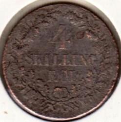 Moneda > 4skillingrigsmont, 1867-1874 - Dinamarca  - reverse