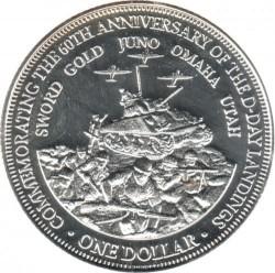 Moneta > 1dolar, 2004 - Wyspy Cooka  (60 rocznica - D-Day) - reverse