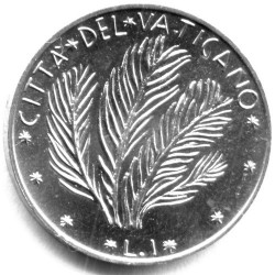Moneda > 1lira, 1970-1977 - Ciudad del Vaticano  - reverse
