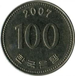 Moneta > 100vonų, 2007 - Pietų Korėja  - reverse
