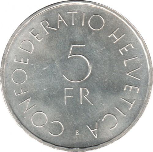 5 Franken 1963 Rotes Kreuz Schweiz Münzen Wert Ucoinnet