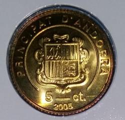 Moneda > 5céntimos, 2005-2008 - Andorra  - obverse