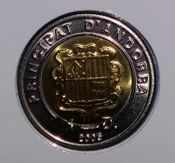 Münze > 1Diner, 2005-2008 - Andorra  - obverse