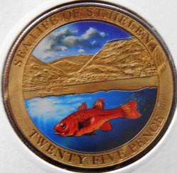 Moneta > 25pensów, 2013 - Wyspa Świętej Heleny  (Życie morskie Wyspy Śiętej Heleny - Czerwona ryba) - reverse