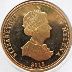 Moneta > 25pensów, 2013 - Wyspa Świętej Heleny  (Życie morskie Wyspy Świętej Heleny - Ryba srebrzyk) - obverse