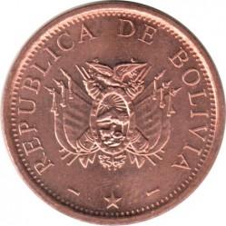 Coin > 10centavos, 2001-2008 - Bolivia  - obverse