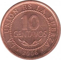 Coin > 10centavos, 2001-2008 - Bolivia  - reverse