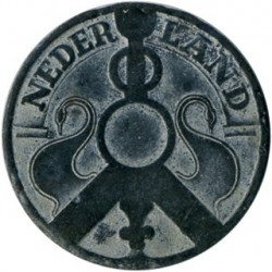 Monedă > 2½ cenți, 1941 - Regatul Țărilor de Jos  (Zinc /gray color/) - reverse