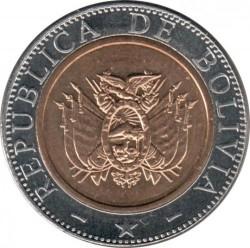 Coin > 5bolivianos, 2001-2004 - Bolivia  - obverse
