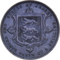 Coin > 1/26 shilling, 1866-1871 - Jersey  - reverse