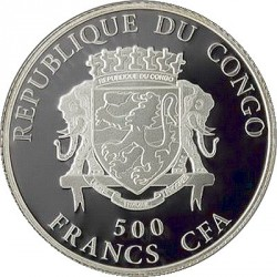 Moneta > 500franchi, 2014 - Congo  (Buona fortuna) - obverse